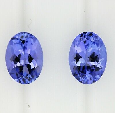 1.92ct! TANZANITE NATURAL MATCHING PAIR EXPERTLY FACETED IN GERMANY +CERT