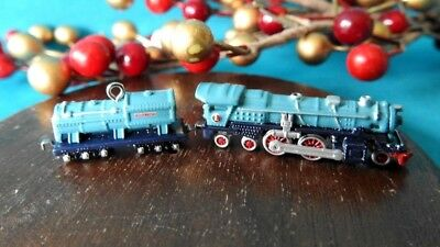 Hallmark Miniature Ornament 2003 Lionel Blue Comet Steam Locomotive Tender
