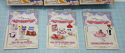 Sailor Moon Crystal Cafe Sweets Collection  Set , 3 pc Only - Re-ment   hok