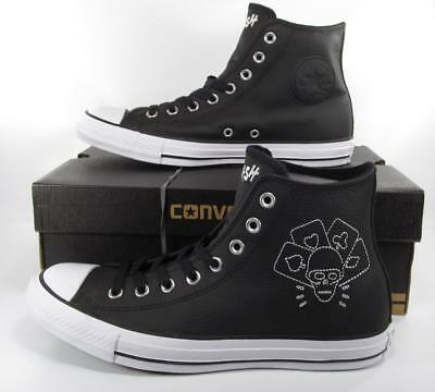 24a5d3966675 Converse The Clash Chuck Taylor All Star Sneakers Black Leather 155074C  RARE!
