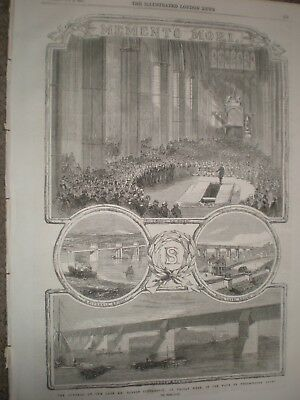 Funeral engineer Robert Stephenson at Westminster 1859 print ref AU