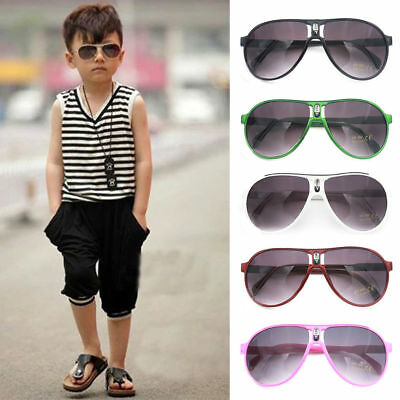 Kids Outdoor ANTI-UV Sunglasses Eyewear Boys Girls Eye Glasses Shades Goggles