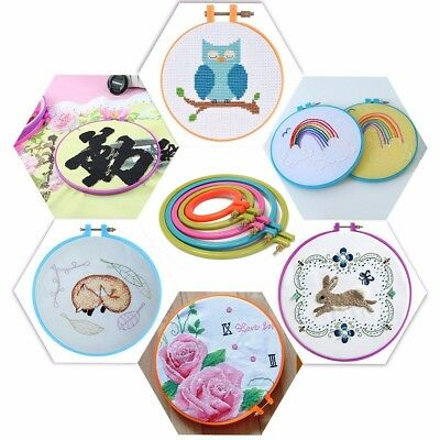 Round Plastic Cross Stitch Embroidery Ring Hoop Machine Sewing Crafts 87-188.4mm