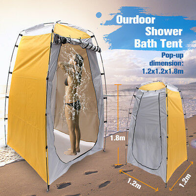 Portable Pop Up Fishing & Bathing Toilet Changing Tent Camping Room Outdoor