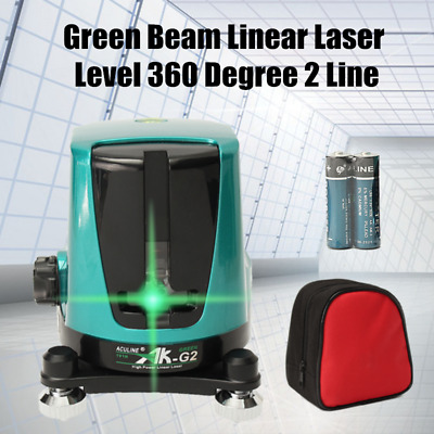 AK-G2 1V1H 360° Auto Self-Leveling Cross Laser Level 2 Line Green Beam Linear