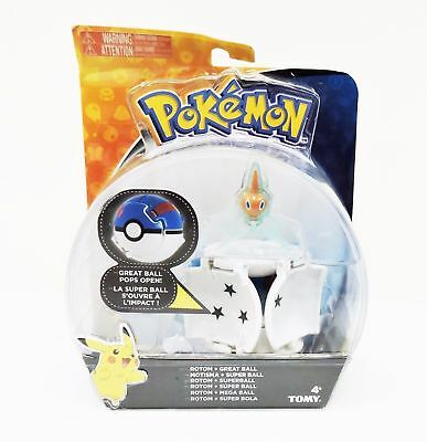 TOMY Pokemon Throw 'n' Pop Pokeball Rotom & Great Ball Figure