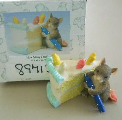 Charming Tails - HOW MANY CANDLES? -  w/Box by Fitz & Floyd