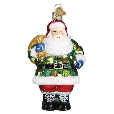 "/""Caroling Santa/"" 40289 X Old World Christmas Glass Ornament w//OWC Box"