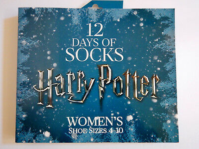 Harry Potter 2017 12 Days of Socks Advent Calendar Womens Size 4-10 Sold Out NIB