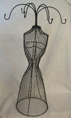 """Store Display Fixtures NEW WIRE MESH BODY FORM 6 ARM JEWELRY DISPLAY 27"""" tall"""