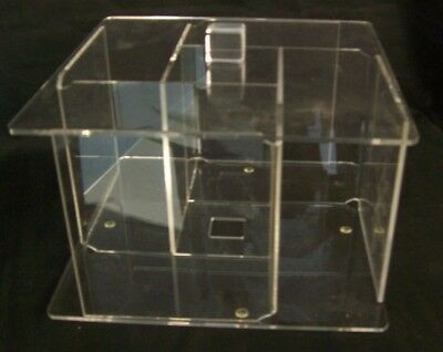 """Store Display Fixtures NEW COUNTER TOP CD ACRYLIC DISPLAY Holds 24 CDS 9"""" square"""