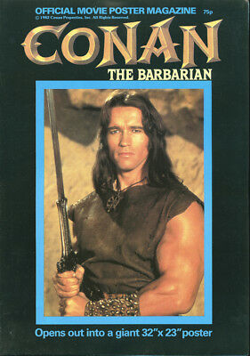 CONAN THE BARBARIAN Original Movie Poster Magazine 1982 ARNOLD SCHWARZENEGGER