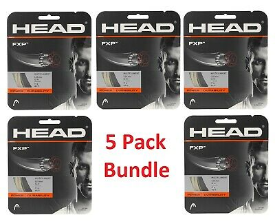 HEAD FXP 17 gauge tennis racquet string set - 6 Pack Bundle - Free shipping