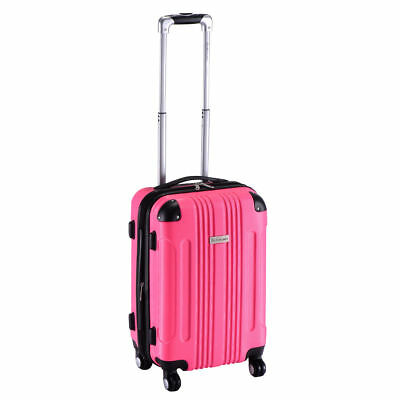 "20"" Pink Expandable Carry On Travel Bag Suitcase Hard Shell Luggage Case 4 Wheel"