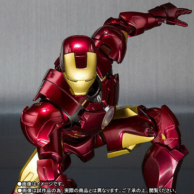 S.H. Figuarts Iron Man Mark MK IV 4 and Hall of Armor action figure set Bandai