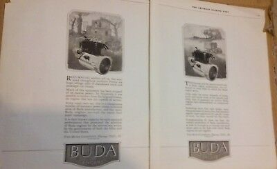 1919 SATURDAY EVENING POST MAGAZINE PRINT AD BUDA the ENGINE  ADVERTISEMENT A152