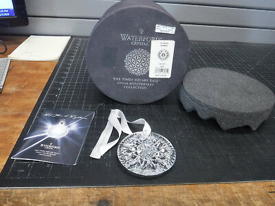 NEW Waterford Crystal Christmas Ornament 2008 TIMES SQUARE Disc 100 Year Anniv