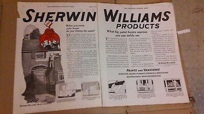 1919 Saturday Evening Post Magazine Print Ad Sherwin Williams Advertisement A155