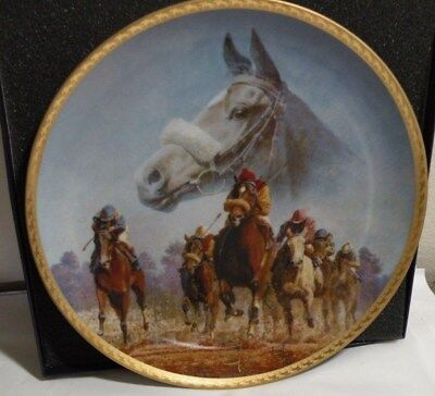 Race Horse Dance Smartly,  FRED STONE ARTIST, Collectors Plate #479 Gold Collect