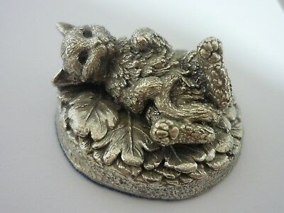 Stunning Vintage Sterling Silver Cat By Country Artists - Stephen Langford.
