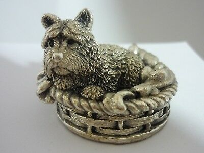Stunning Vintage Sterling Silver West Highland Terrier Dog By Country Artists
