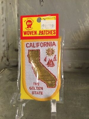 Vintage Embroidered Patch Badge Souvenir Travel Iron On CALIFORNIA Golden State