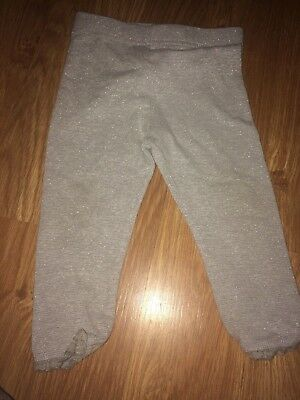 Next Baby Girl 12-18 Months Silver Leggings (Ex Cond)