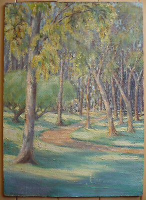 Mystery Old Impressionist Plein Air Impressionism Colorism Oil Trees Landscape