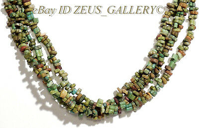 Ancient EGYPTIAN Rare Double Conjoined Beads Glazed Faience Necklace 4/1 Strands