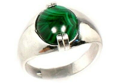 18thC Antique 6ct Malachite Ancient Talisman Sorcery Witches Disease Protection