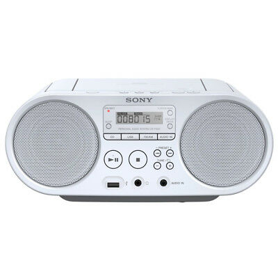 Sony ZS-PS 50 weiß Radio-CD-Player CD-Boombox USB Audioeingang