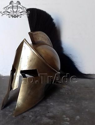 Spartan King Leonidas Medieval Helmet Greek 300 Roman worrier Costume Movie Gift