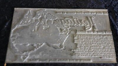 Rare South Australian Brewing Company Beer Printing Plate