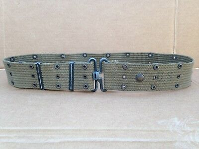 "Vintage WWII era US Army Military USMC Utility Canvas Web Pistol Belt 48"" WW2"
