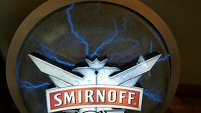 (L@@k) Smirnoff Vodka Plasma Lightning Bolt Static Light Up Motion Beer Bar Sign