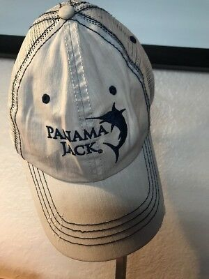 Panama Jack Frayed Baseball Cap Hat Sowrdfish Logo Sport Fishing Tan Mesh  Back 83cd590e1e0