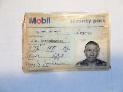 1972 Mobil Security Pass, Buffalo Lube Plant, No. 237149