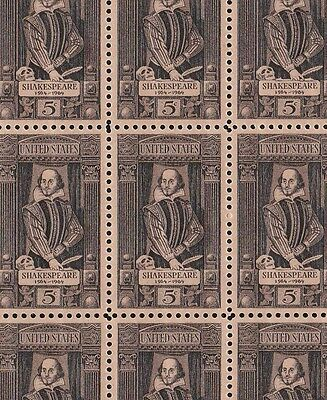 1250   Shakespeare    Full  Sheet Of  50