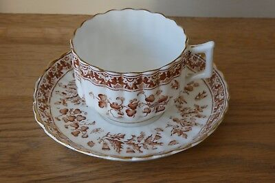 Antique Victorian / Edwardian Fluted Cup & Saucer