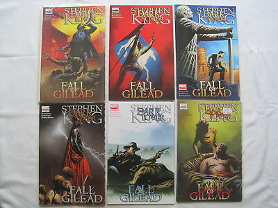 """STEPHEN KING : DARK TOWER, """"FALL of GILEAD"""" complete 6 issue series. MARVEL.2009"""