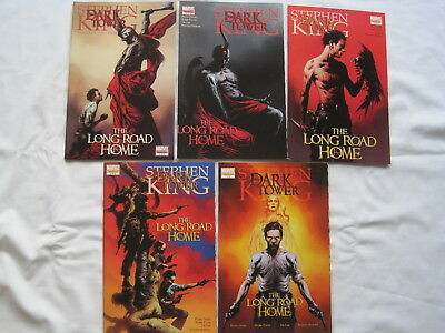 "STEPHEN KING : DARK TOWER, ""LONG ROAD HOME"" complete 5 issue series. MARVEL.2008"