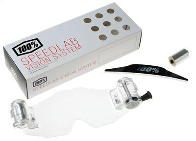 100% Speedlab Roll-Off Vision System For Accuri MX Motocross Goggles Clear