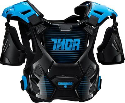 Thor Youth Boys Guardian Chest/Back Roost Guard Protector XXS/XS Black Blue