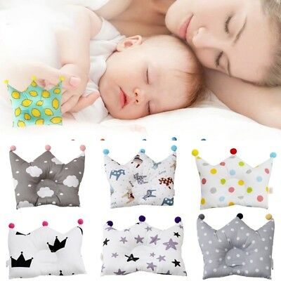 Cute Crown Pillow Memory Foam Against Deformation Fixed Headform For Baby Infant