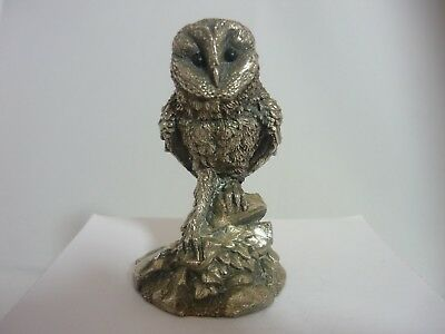 Stunning Vintage Sterling Silver Owl By  Stephen Langford - Country Artists