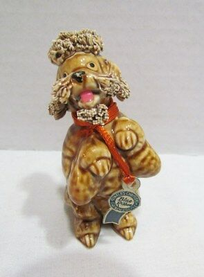 Blue Ribbon Ceramic Spaghetti French Poodle Figurine Donald's Champions W/ Tag