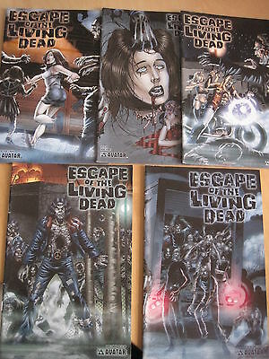 ESCAPE of the LIVING DEAD : COMPLETE 5 ISSUE SERIES by PULIDO.V GORY!AVATAR.2006