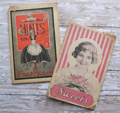 Antique Lydia E. Pinkham's Sweets & Hints for Food Health Recipe Booklet Lot