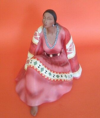 Beautiful Resin Native American Indian Woman Americana Rosa Maria Adelberts
