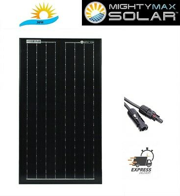 Mighty Max 30W Solar Panel 12V Mono Off Grid Battery Charger for Boat